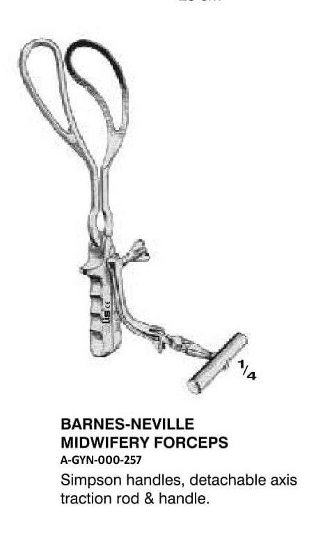 Barnes Neville Midwifery Forceps