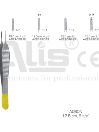 Adson forceps Plain with Tungsten carbide inserts