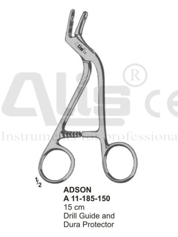 Adson Drill Guide and Dura-Protecting Forceps